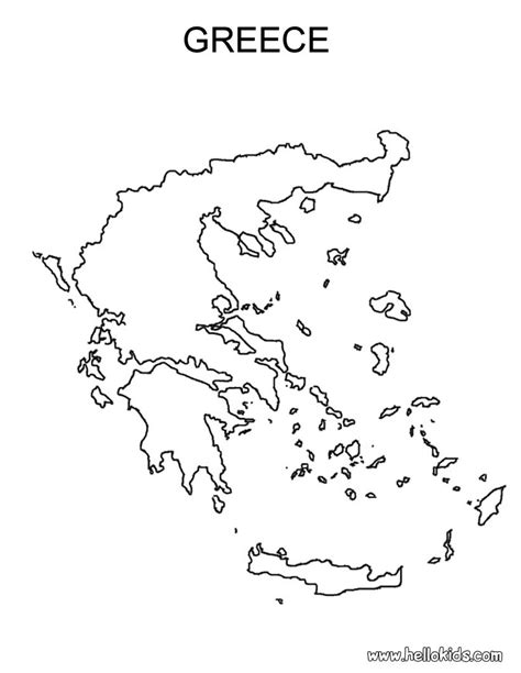 Greece Coloring Pages greece map free coloring pages