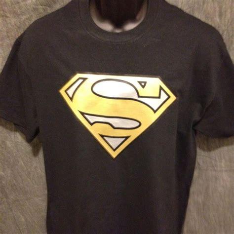 Kaos Black Silver Superman 1 superman logo variant gold and silver alternate color logo black tshir tshirtnow