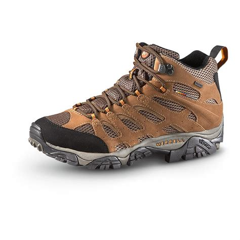 mens hiking sneakers merrell s waterproof moab mid hiking shoes earth