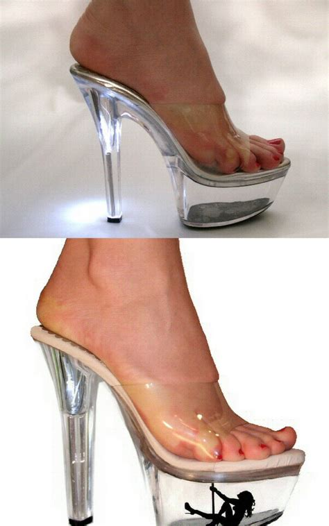 light up high heel shoes clear light up mules platform shoes womens