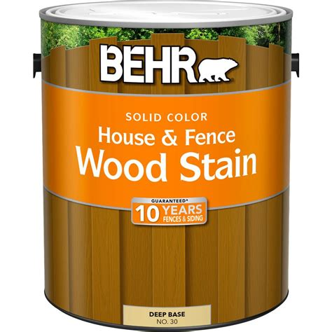 behr 1 gal base solid color house and fence wood stain 03001 the home depot