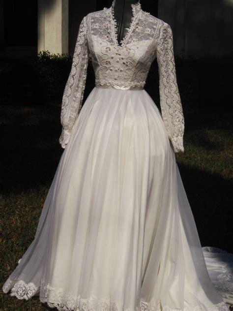 Vintage 70s Wedding Dresses by Vintage 70s Wedding Dress Kate Style Wedding By Luvlyweddings