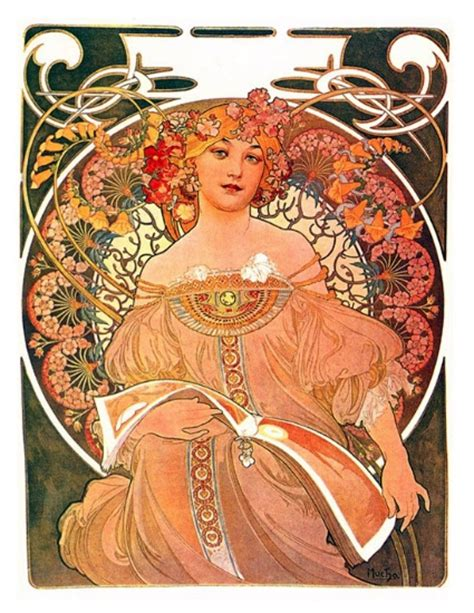 Style Of Home by Alphonse Mucha Illustration