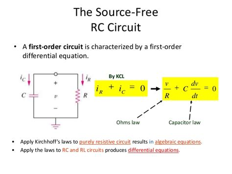 capacitor circuit differential equation step