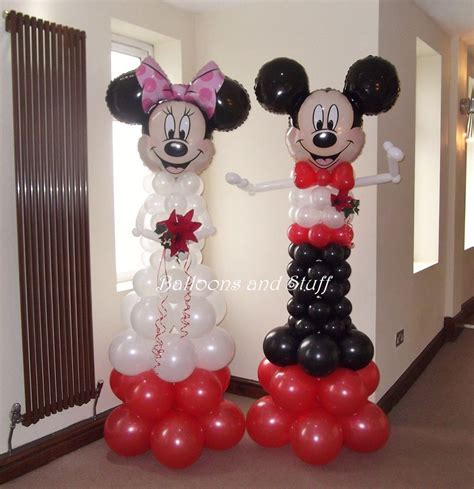 Mickey & Minnie Mouse Bride & Groom Balloon Decorations