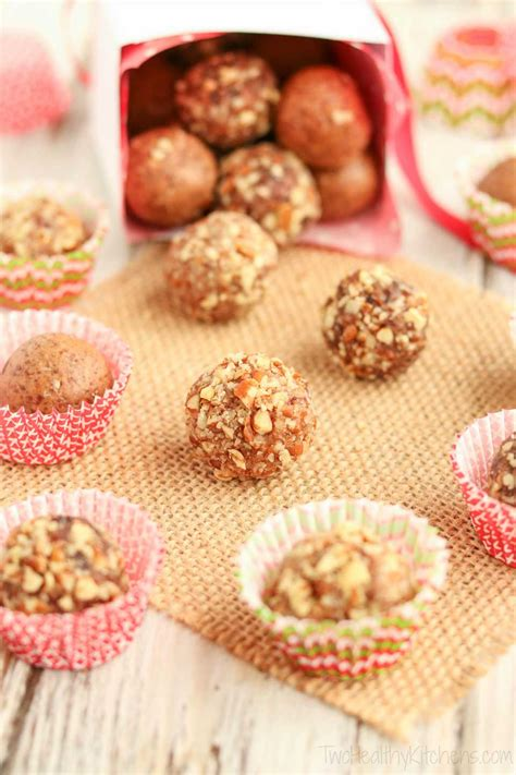no bake gingerbread date balls two healthy kitchens