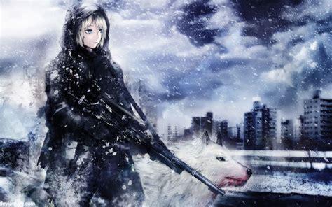 anime girl fantasy soldier wallpaper anime wallpaper background anime soldier girl wallpaper