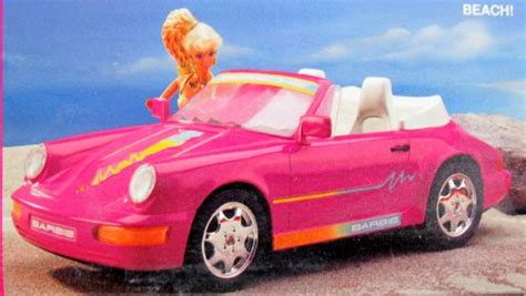 barbie porsche barbie porsche 911 cabriolet vehicle car w working