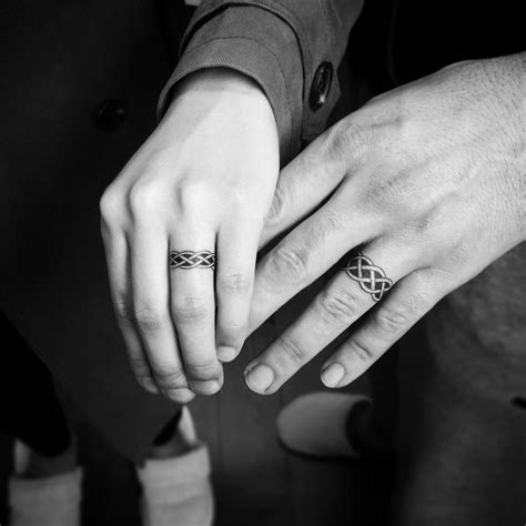 wedding band tattoos for couples 26 ring designs ideas design trends