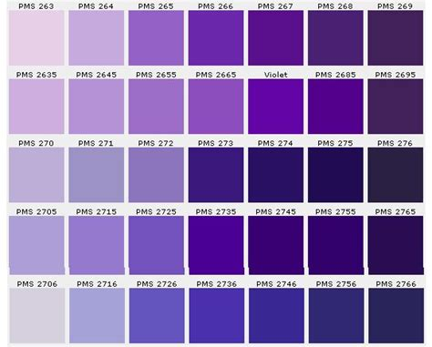color chart purple charts hue and purple colors