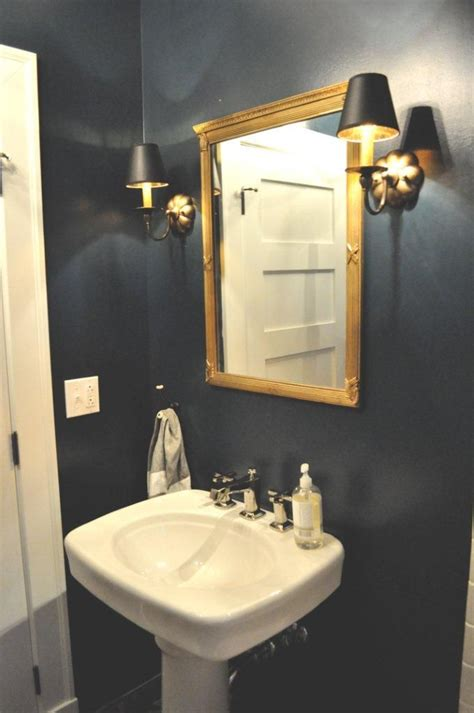best paint color for powder room with no windows farrow and ball quot hague blue quot in full gloss low voc