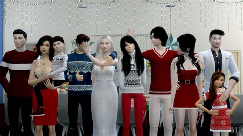 Mod The Sims Big Family Small Budget 5 Big Family Pose Pack 4 Poses One With 4 Sims And