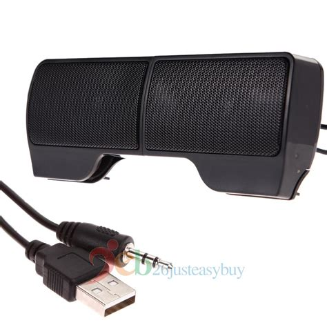 Speaker Mini Notebook mini usb power stereo speaker system for computer laptop pc desktop notebook ebay
