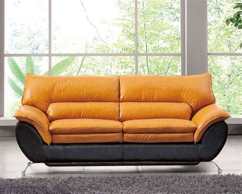 Two Tone Leather Sofa Two Tone Italian Leather Sofa Bed European Design 33ss222