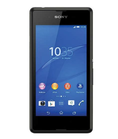 snapdeal sony mobaile sony xperia e3 dual 4gb black mobile phones online at low