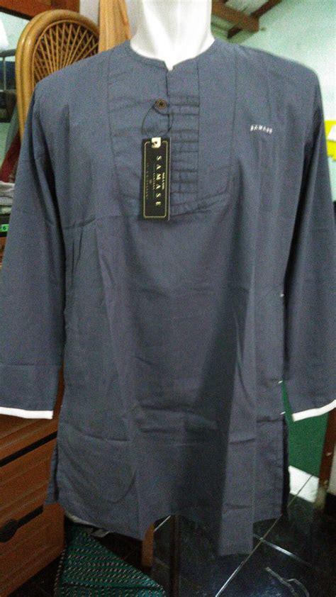 Kurta Samase Navy Lengan Panjang baju kurtas samase 5002 biru keabuan pjg samase clothes