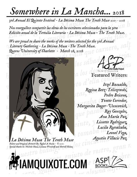 a sor juana anthology third annual tertulia literaria literary gathering la d 201 cima musa i am quixote