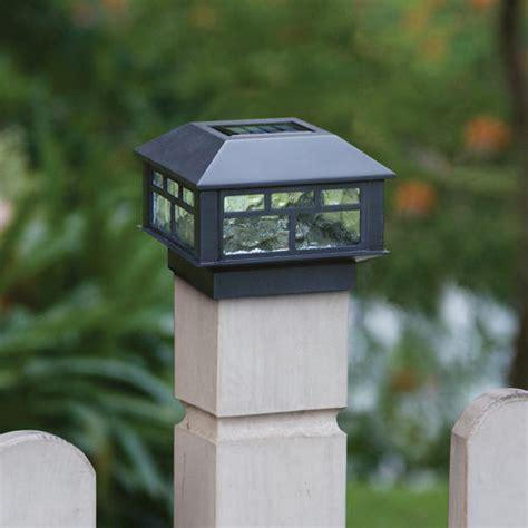 solar lights at menards sunbury 3 7 8 quot black 1 light solar post cap light at menards 174