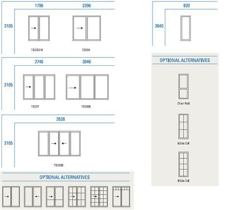 Sliding Glass Door Sizes Standard Sliding Door Width