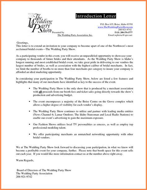 cover letter for company introduction 4 sle of company introduction letter company letterhead