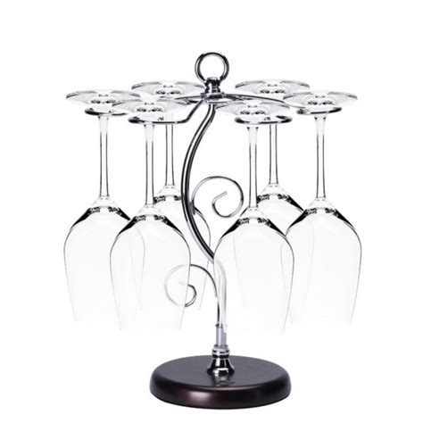 Wine Glass Tree Rack by Mylifeunit Wine Glass Rack Stand Metal Wine Glass Holder Rack Tree Display 6 Cups