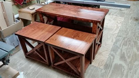 2x4 end tables and sofa table by dynamike lumberjocks
