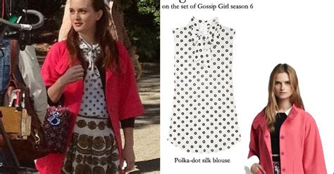 She Said It Haute Gossip 6 by What She Wore Leighton Meester As Blair Waldorf Gossip