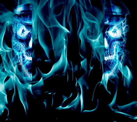 cool wallpaper editor blue skull photos hd wallpapers pics