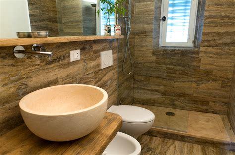 in bagno lavabo bagno in pietra naturale da appoggio in travertino