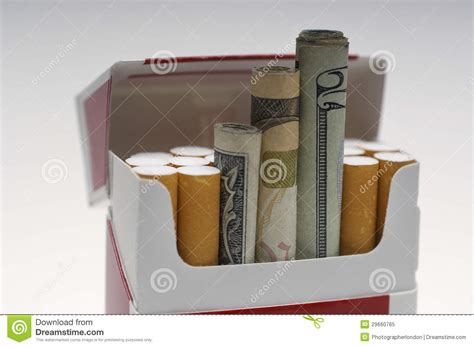 How To Make A Paper Cigarette Box - paper money rolled up in cigarette box stock image image