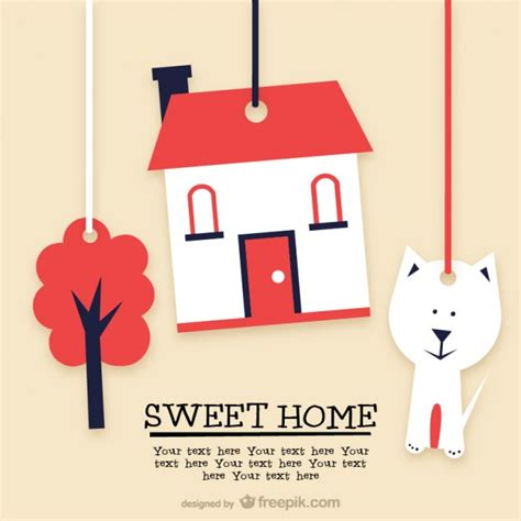 sweet home template vector free download