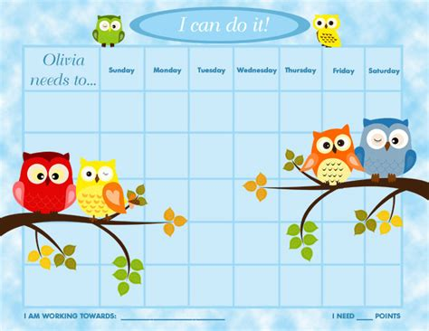 printable incentive charts for toddlers printable personalized children s reward chart chore