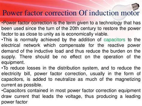 power factor correction for induction motor 28 images power factor improvement of an