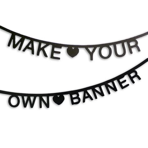design a banner in word leo bella diy word banner black by omm design