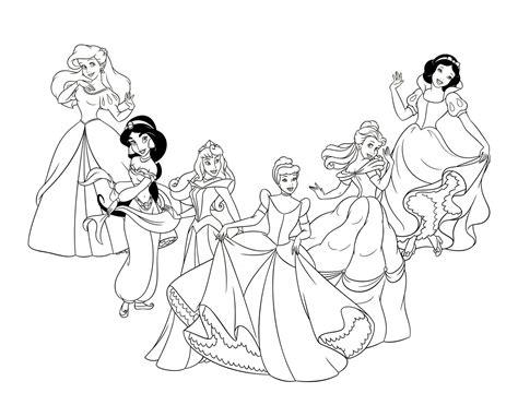 imagenes para colorear princesas de disney dibujos de princesas disney para colorear e imprimir gratis