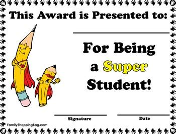Super Student Award Awards Awards Free Printable Ideas From Family Shoppingbag Com Student Award Template