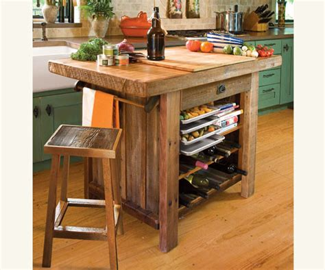 Wooden Kitchen Island American Barn Wood Kitchen Island Traditional Kitchen Islands And Kitchen Carts By Napa Style