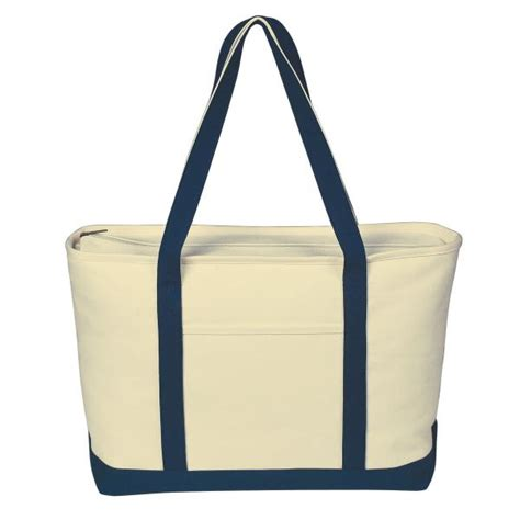 canvas zipper tote promotional products large heavy cotton canvas boat tote