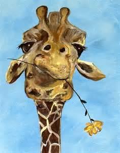 Animal Print Floor Rugs Contemporary Giraffe Art Print By Contemporaryearthart
