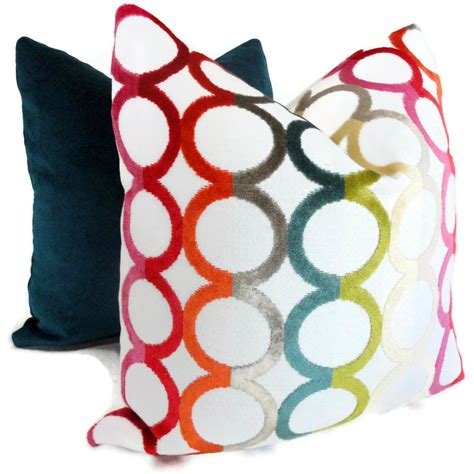 pillow color for jonathan adler decorative pillow cover multicolor ringleader