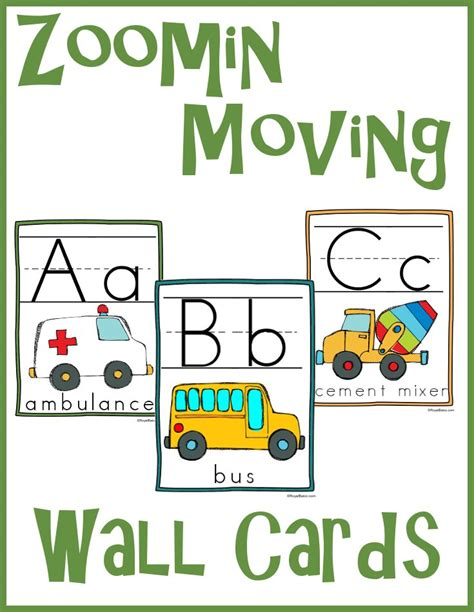 Wall Cards - zoomin moving abc wall cards royal baloo