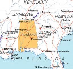 Alabama Usa Map by Map Of Alabama In The Usa