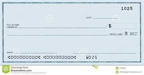 editable blank check template blank check with false numbers royalty free stock image