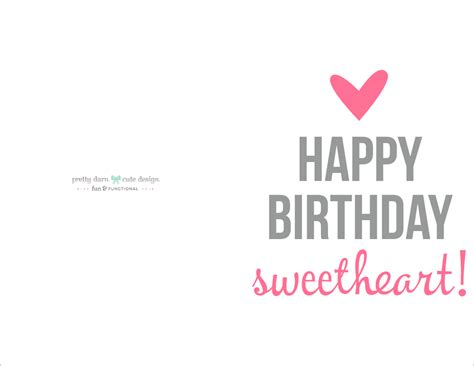 printable birthday cards for my love happy birthday card printable happy birthday cards