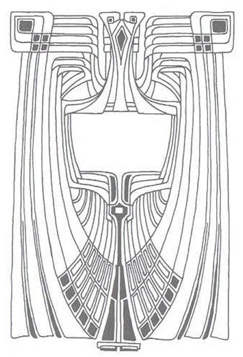 printable art nouveau designs stencils on pinterest stencil patterns art deco pattern