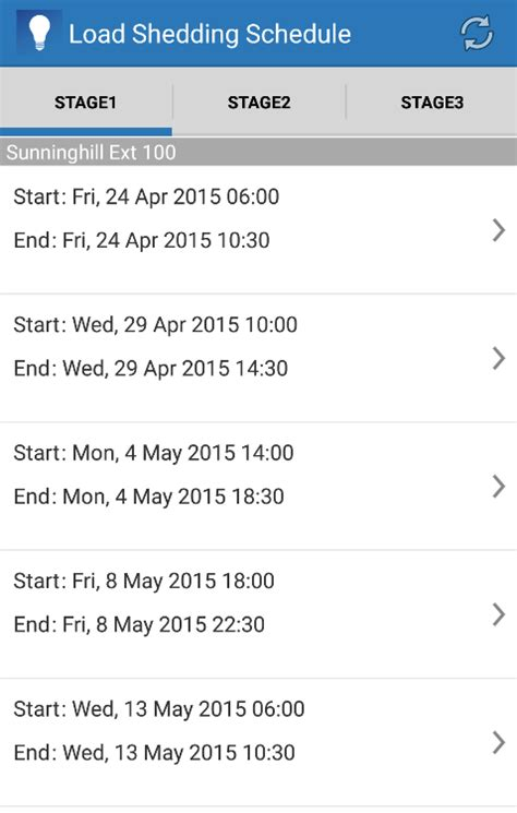 Ethekwini Municipality Load Shedding Schedule by Loadshedding Android Apps On Play