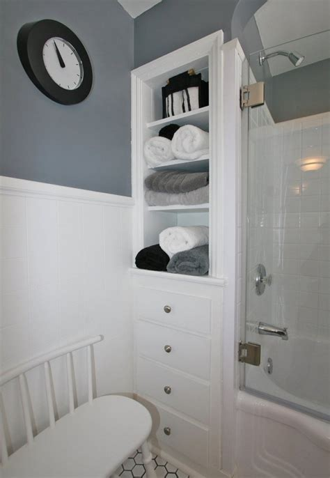 built in bathroom cabinets bathroom pinterest