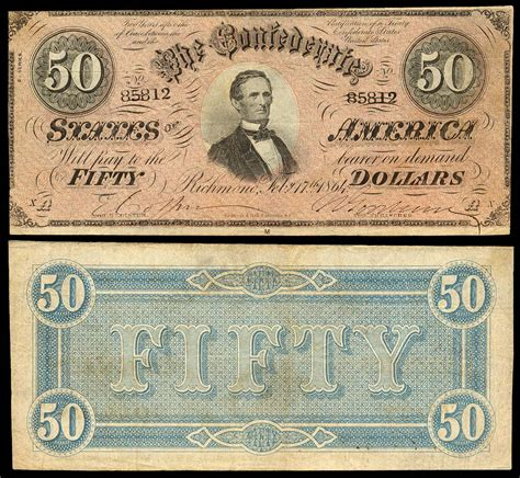 Paper Money - confederate paper money