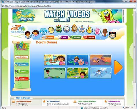 nick jr preschool games nickjr com memade kidsworld
