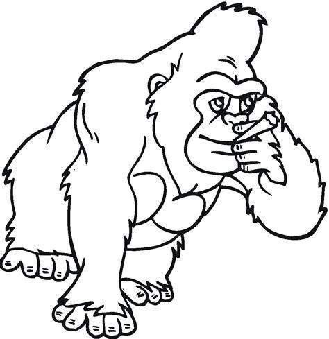 coloring page of gorilla dibujo de gorila coloring pages